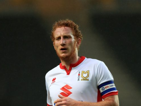 Skipper Dean Lewington has been placed in interim charge at MK Dons (Tim Goode/PA)
