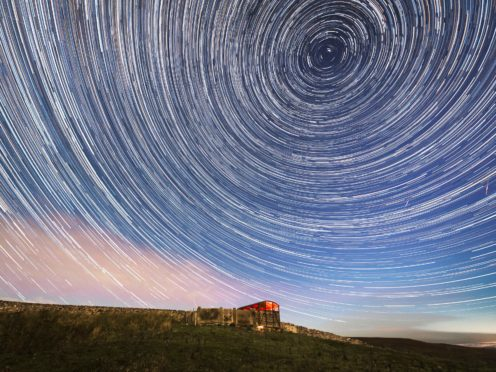 Digital composite of 233 photographs taken over a period of one hour and 57 minutes (Danny Lawson/PA)