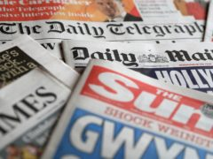 A collection of British newspapers (PA)