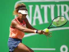 """Naomi Osaka admitted that at times over the last year she felt """"ungrateful"""" about feeling that playing tennis on the world stage was not enough of an accomplishment in itself (Nigel French/PA)"""