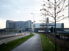 The injured woman was taken to the Queen Elizabeth University Hospital in Glasgow (Jane Barlow/PA)