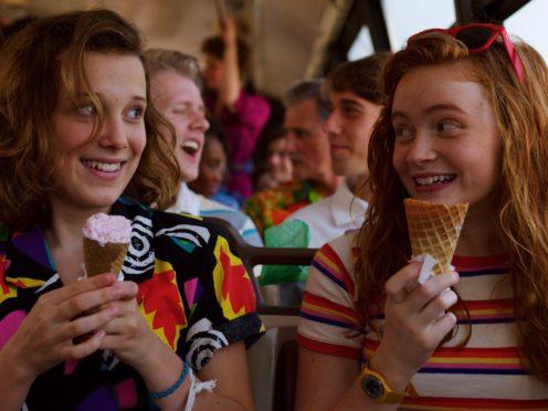 Millie Bobby Brown and Sadie Sink (Netflix/PA)