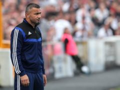 Qarabag manager Gurban Gurbanov admitted the pitch was poor (Brian Lawless/PA)