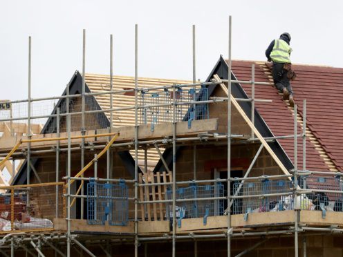 The number of new homes being registered jumped to a 14-year high (Gareth Fuller/PA)