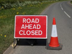 The road was closed for several hours (David Davies/PA)