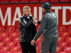 Ole Gunnar Solskjaer oversaw a 9-0 win against Ralph Hasenhuttl's Southampton in February (Peter Powell/NMC Pool/PA)