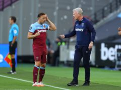 Mark Noble (left) is in his final season as a West Ham player (Richard Heathcote/NMC Pool/PA)