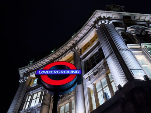The incident occurred at Oxford Circus Tube Station (John Walton/PA)