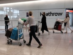 Heathrow Airport has recorded its highest monthly passenger total of the coronavirus pandemic (Yui Mok/PA)