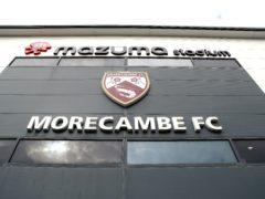 Morecambe hosted Sheffield Wednesday (Tim Markland/PA)