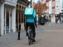 Deliveroo has seen orders soar during lockdowns (David Davies/PA)