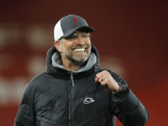 Jurgen Klopp, pictured, crosses swords with fellow German Thomas Tuchel on Saturday at Anfield (Phil Noble/PA)