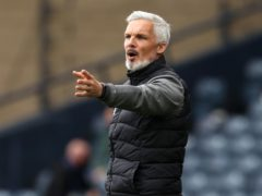 Jim Goodwin was unhappy with a decision to disallow a goal for his side (Andrew Milligan/PA)