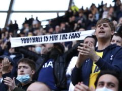 Tottenham fans are unhappy with how the club is being run, according to a survey (Paul Childs/PA)