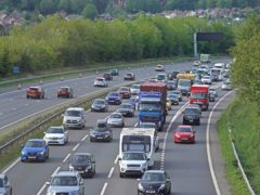 Traffic levels spiked as millions of people embarked on a bank holiday getaway (Steve Parsons/PA)
