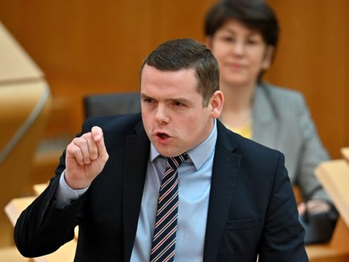 Douglas Ross quoted an SNP slogan from the 1970s to attack the First Minister (PA)