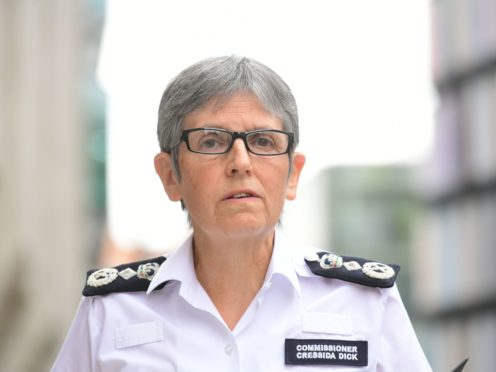 Metropolitan Police Commissioner Dame Cressida Dick said her officers helped stop 'a far worse tragedy' at Wembley (Ian West/PA)