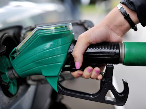 File photo dated 1582013 of a person using a petrol pump. The UK's rate of inflation soared to its highest for almost three years in June on the back of increases in the prices of food and motor fuel. Issue date: Wednesday July 14, 2021.