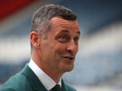 Jack Ross hailed Hibs' first-half performance (Andrew Milligan/PA)