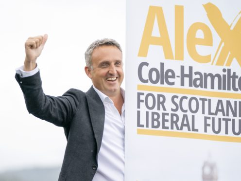 Alex Cole-Hamilton looked to distance himself from his party's 2010 coalition with the Tories at Westminster (Jane Barlow/PA)