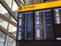 The idea of having an amber watchlist for travel destinations has been abandoned (Steve Parsons/PA)