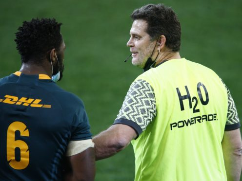 South Africa's director of rugby Rassie Erasmus (right) is to face an independent misconduct hearing (Steve Haag/PA)