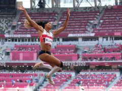 Great Britain's Abigail Irozuru qualified for the long jump final (Martin Rickett/PA)