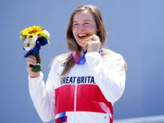 Great Britain's Charlotte Worthington with her gold medal following victory in the women's BMX freestyle final (Mike Egerton/PA Images).