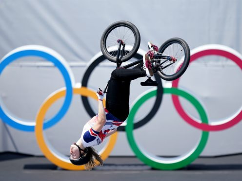 Charlotte Worthington became the first ever women's Olympic BMX freestyle champion (Mike Egerton/PA)