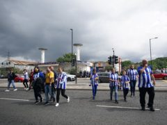 Fans attending for the Carabao Cup first round match between Sheffield Wednesday and Huddersfield at Hillsborough on Sunday were not asked to prove their Covid status (Zac Goodwin/PA)