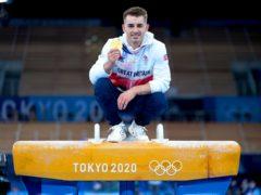 Max Whitlock won pommel gold in Tokyo (Mike Egerton/PA)