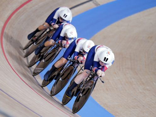 Great Britain finished second in qualifying for the team pursuit (Danny Lawson/PA)