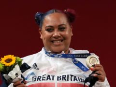 Emily Campbell claimed a weightlifting silver medal in Tokyo (Martin Rickett/PA)