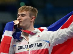 Jack Laugher has completed his Olympic set of medals (Martin Rickett/PA)