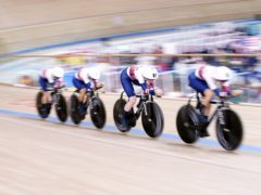 Great Britain's women's team pursuit won silver in Tokyo (Danny Lawson/PA)