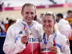 Laura and Jason Kenny won silver on Tuesday (Danny Lawson/PA)