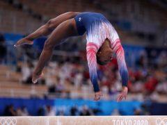 Simone Biles won a bronze medal on her Olympic return (Mike Egerton/PA)