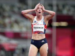 Keely Hodgkinson won a silver medal (Martin Rickett/PA)