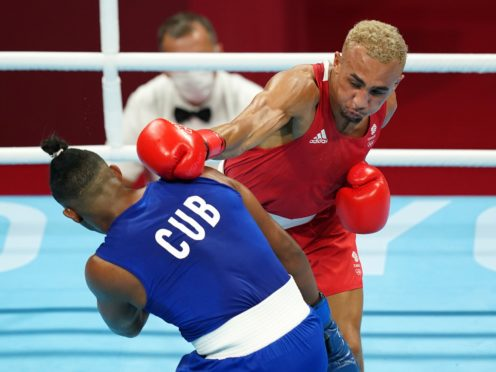 Benjamin Whittaker, right, took silver in the final bout (Mike Egerton/PA)