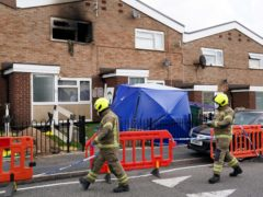 Firefighters at the scene of the blaze in Tipton (Jacob King/PA)