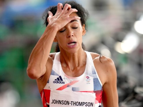 Great Britain's Katarina Johnson-Thompson was forced to pull out of the heptathlon. (Joe Giddens/PA)