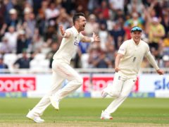 England's Jimmy Anderson celebrates the wicket of India's Virat Kohli during day two of Cinch First Test match at Trent Bridge, Nottingham. Picture date: Thursday August 5, 2021.