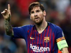 Lionel Messi has waved goodbye to Barcelona (Nick Potts/PA)