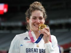 Kate French with her modern pentathlon gold medal (Mike Egerton/PA)