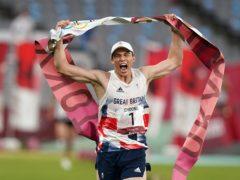 Joe Choong celebrates his Olympic gold (Adam Davy/PA)