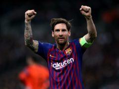 Barcelona's Lionel Messi has bid a tearful farewell to the club (Nick Potts/PA)