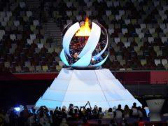 The Olympic flame is extinguished (Martin Rickett/PA)