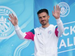 Record signing Jack Grealish was formally unveiled by Manchester City on Monday (David Davies/PA)