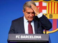 Barcelona president Joan Laporta has revealed the LaLiga giants are 1.35billion euros in debt (Joan Monfort/AP/Press Association Images)