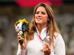 Silver medallist Maria Andrejczyk, of Poland (Martin Meissner/AP)
